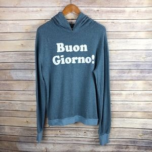 Wildfox Gypsy Graphic Bon Giorno Hooded Sweatshirt